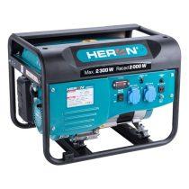Heron benzinmotoros áramfejlesztő, max 2300 VA, egyfázisú