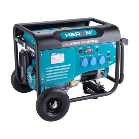 Heron benzinmotoros áramfejlesztő, max 5500 VA, egyfázisú |8896413|