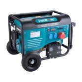 Heron benzinmotoros áramfejlesztő, max 6800 VA, háromfázisú, önindítós