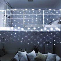 230 LED-es jégcsap fényfüggöny, hidegfehér