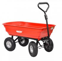 Hecht kerti traktor 4 kerekű billenthető utánfutó, 75l max 250kg  52145 