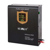 Kemot fali szinuszos szünetmentes tápegység, akkumulátor nélkül - 12v / 500w