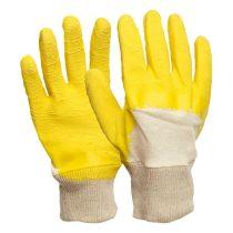 kesztyű TWITE, könnyített kézhát; pamut, latexba mártott 10-es méret |142210|