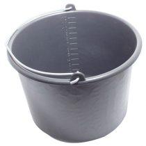 habarcsos vödör; 12 liter,fekete műanyag |30701M|