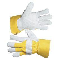 kesztyű munkához, Eider, HS-01-002; 10-es, marhahasíték, sárga