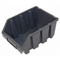 tároló doboz, ergobox; 3, közepes, 170×240×125mm, műanyag, fekete |3385067|