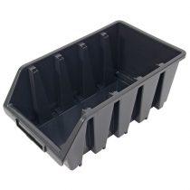 tároló doboz, ergobox; 4, nagy, 205×340×155mm, műanyag, fekete  3385068 