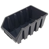 tároló doboz, ergobox; 4, nagy, 205×340×155mm, műanyag, fekete |3385068|