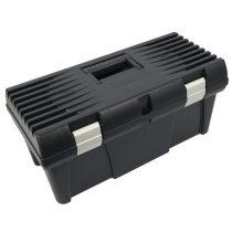 """Szerszámosláda, műanyag, alucsatos, tálcával, fekete, lakatolható; 20"""", 525×255×245mm"""