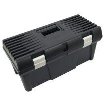 """szerszámosláda, műanyag, alucsatos, tálcával, fekete, lakatolható; 20"""", 525×255×245mm  3385071 """