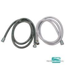 Viking zuhanytömlő, ezüst/fekete, PVC; 1,5m  630228 