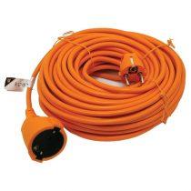 Villamos hosszabbító, narancs, 20m kábel, 250V-10A;, 1,0mm2