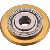 Vágókerék a 8841032, 8841034, 8841052 csempevágókhoz, titánium-volfrám-karbid, 22×6×5mm, csapágyas