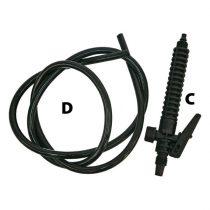 kiegészítők újabb típusú (fehér Extol Craft) 92602-höz és 92603-hoz; pisztoly (szorítóanya/hollander nélkül) |92602C|