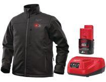 Milwaukee Fűthető kabát fekete + akku és töltő szett, M12 HJ BL4-0