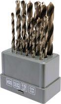 Sthor Csigafúró készlet 19 részes 1,0-13,0 mm HSS