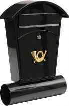 Vorel Postaláda fekete 480x280x80mm