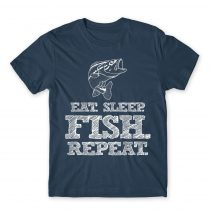 Eat sleep fish Póló
