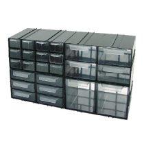 Polonia kombinált műanyag tárolószekrény - 230x125x140mm/4fiók