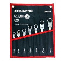 Proline HD csukló racsnis csillag-villáskulcs szett 8-19mm - 7 db |35497|