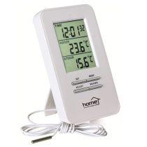 Vezetékes külső-belső hőmérő órával SE_HC12