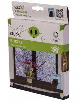 Steck ablaktömítő, P profil - barna, 6m |SAP 6B|