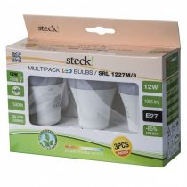 Steck multipack (3 db) LED fényforrás, 12W, E27 meleg fehér |SRL 1227M/3|