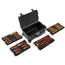 Neo villanyszerelő készlet kofferben, 52db, 1000v, szigetelt