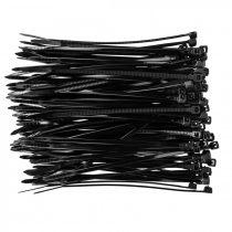 Topex kábelkötegelő 2,5mmx100mm, fekete, 100db