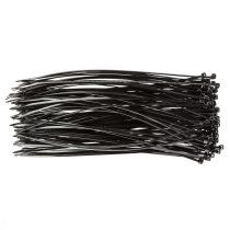 Topex kábelkötegelő 2,5mmx200mm, fekete, 100db