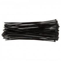 Topex kábelkötegelő 4,8mmx300mm, fekete, 75db