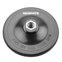 Graphite csiszolótányér tépőzáras 125 mm, m14