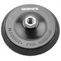 Graphite rugalmas csiszolótányér tépőzáras 125 mm, m14