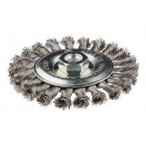Graphite drótkorong tányér egyenes,sodrott 125mm inox m14