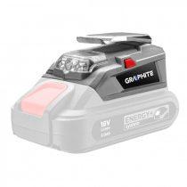 Graphite powerbank adapter + led lámpa, energy+, akku nélkül!