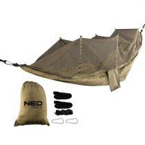 Neo függőágy szúnyoghálóval 330 x 140 cm, 210t nylon, max terhelhetőség 200kg, sötétzöld
