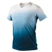 Neo póló, kék árnyékmintás, 100% pamut, 180g/m2