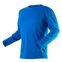 Neo póló, hosszú ujjú, hd+, kék, 100% pamut