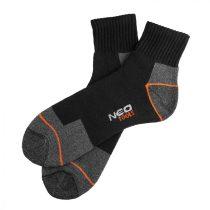 Neo munkazokni, rövid, 70% pamut, 30% polyester, megerősített sarok, lélegző