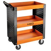 Neo műhelykocsi, 3 polcos, 630 x 390 x 830mm, teherbírás:120kg