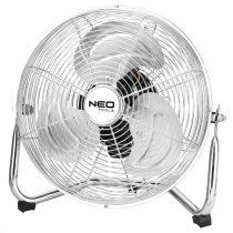 Neo padló ventilátor 50w, átmérő 30 cm, 3 sebességfokozat, fém keretes króm váz, aluminium lapát