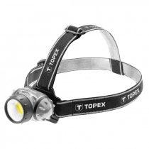 Topex fejlámpa 3w led cob, batteries 3aaa