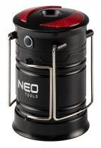 Neo kempinglámpa, 3 funkciós, összecsukható, 200lum, elemes 3xaa, cob led, 3w