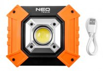 Neo reflektor, talpas, elemes 3xaa ,cob led 750lum, powerbank funkció, 10w