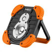 Neo reflektor, talpas, tölthető, 750 + 250lum cob led, powerbank funkció, 10w