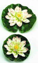Selyemvirág,tavirózsa 14cm fehér