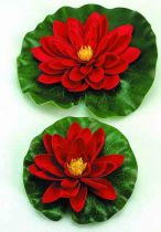 Selyemvirág,tavirózsa 14cm piros