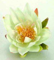 Selyemvirág, krémszínű tavirózsa,16 cm