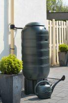 Esővízgyüjtő,250l, zöld műanyag,'Slimline' 121x54x50cm