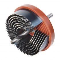 Wolfcraft Standard körkivágó/lyukfűrész készlet, 7 méret, műanyag házas, 25–63 / 18 mély
